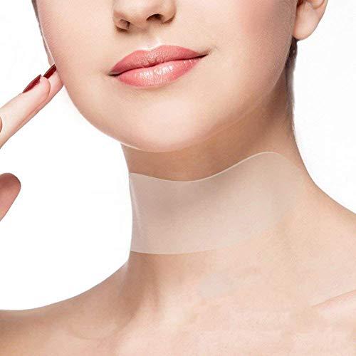 Almohadilla de cuidado de cuello almohadillas transparentes reutilizables antiarrugas de envejecimiento antiarrugas de silicona