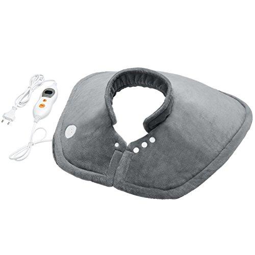 Almohadilla eléctrica cervical hombros para alivio del dolor en cuello y hombros